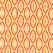 Moda Sunnyside - 2853 - Yellow/Dark Coral Geometric pattern - 100% Cotton Fabric